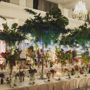 floral centrepieces, greenery, hanging decor - Petals Group