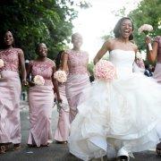 bouquet, bridesmaid dress, dress