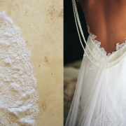 lace, pearls, wedding dress
