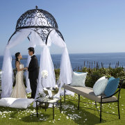 gazebo, sea, seating, wedding dress - The Twelve Apostles Hotel and Spa