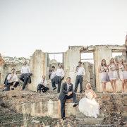 bridal party, bridesmaids dress, groom, groomsmen