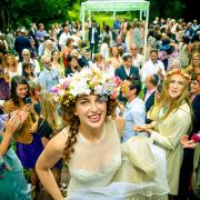 flowers, hair accessories, wedding dress, flower crown, headpiece