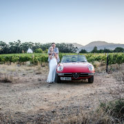 car, just married, winelands