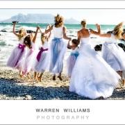 beach, bridal party
