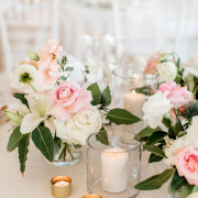 candles, floral decor - The Hire Haus