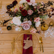 floral centrepieces, table settings - The Hire Haus