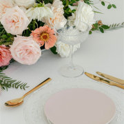 floral centrepiece, table setting, table setting - The Hire Haus