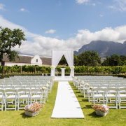 outside ceremony, minimalistic - Sorrento Events