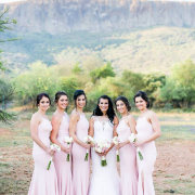 bride and bridesmaids - Leopard Lodge