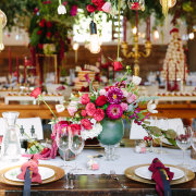 floral centrepiece, table setting - Creation Events