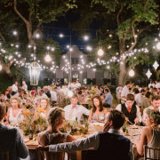 naked bulbs, outdoor reception - Creation Events
