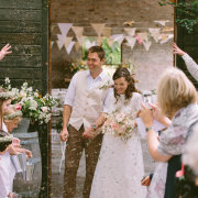 bride and groom, confetti - Creation Events