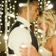 bride and groom, bride and groom, fairy lights - Creation Events