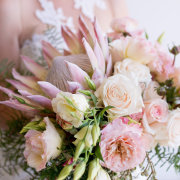 bouquets, flower bouquet, peonies, peonies and roses, pink roses - Creation Events