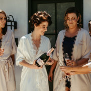 bride and bridesmaids, getting ready, getting ready gowns - Boschendal