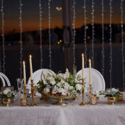 floral centrepieces, table decor with candles - Oopsie Daisy Flowers