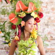 flowers, headpiece, makeup - Oopsie Daisy Flowers