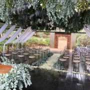 ceremony, hanging greenery, outdoor ceremony - Oopsie Daisy Flowers