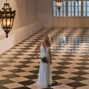 reception hall, wedding dress, floor