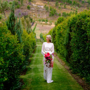 bouquet, wedding dress, winelands