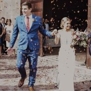 bride and groom, bride and groom, confetti - Panorama Wedding Venue