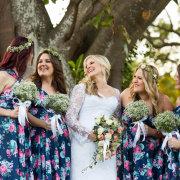 bridesmaids dress, flower crown, hair, wedding dress