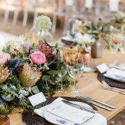 floral centrepieces, table settings - Hawksmoor House