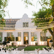 fairy lights, hanging decor, outdoor reception, wedding venues, winelands wedding venue - Hawksmoor House