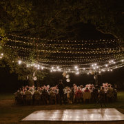 fairy lights, outdoor reception - Hawksmoor House