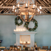 chandeliers, floral decor - Hawksmoor House