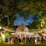 fairy lights, outdoor reception, wedding venues, winelands wedding venue - Hawksmoor House