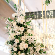 floral decor, hanging florals - The Event Planners