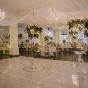 dance floor, draping, fairy lights, hanging decor, wedding decor - The Event Planners