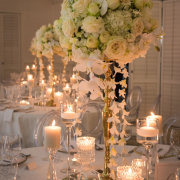 candles, floral centrepieces - The Event Planners