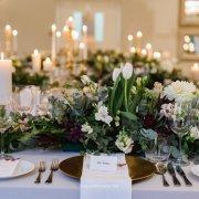 floral centrepiece, table setting - Unveil Elegance Events