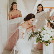 bride and bridesmaids - Unveil Elegance Events