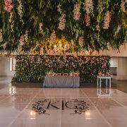 dance floor, floral decor, hanging decor, wedding decor - Unveil Elegance Events