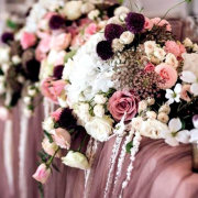 floral decor, floral runner - New Vintage Events