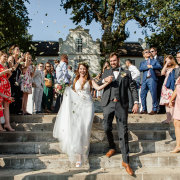 bride and groom, bride and groom, bride and groom, confetti - Megara Weddings