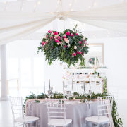 draping, hanging decor, wedding furniture - Café Fleur / Cor de Rosa