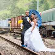 bride and groom - Intaba View