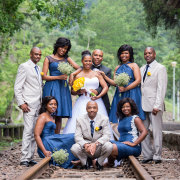 bridal party, bridesmaids, groomsmen - Intaba View