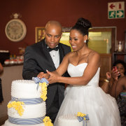 bride and groom, cake - Intaba View