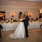 bride and groom, dance floor - Intaba View