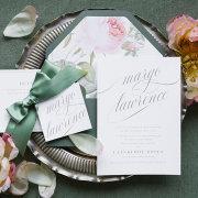 flowers, menu, table decor, table decor