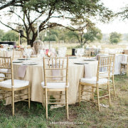 hanging decor, naked bulbs, outdoor reception - Otto de Jager Events