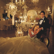 bride and groom, bride and groom, chandeliers, hanging decor - Otto de Jager Events