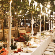 candles, hanging decor, outdoor reception - Otto de Jager Events