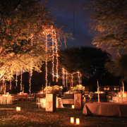 candles, fairy lights, outdoor reception - Otto de Jager Events