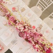 floral runner, table settings - Otto de Jager Events